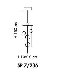 Sillux NIAGARA SP 7/236 crystal Oprawa Wisząca Sillux
