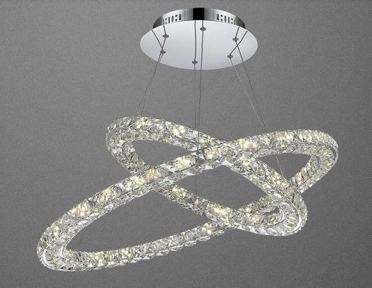 Lampa Kryształowa Chromowa Globo Marilyn 67038-64