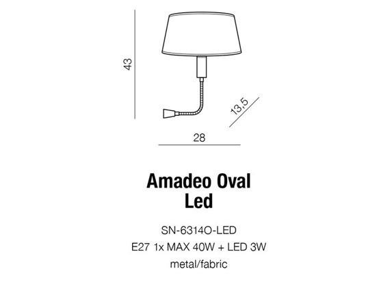Amadeo SN-6314O-LED Azzardo Lampa ścienna