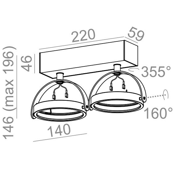 Aqform Reflektor CERES 15112-0000-T8-PH-03