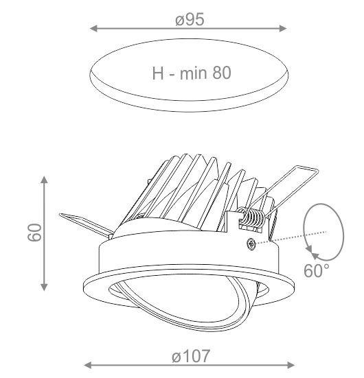 Aquaform LED EYE HERMETIC Oprawa Wpuszczana 30416M8-03