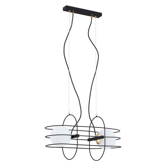Argon Lampa wisząca nad stół Rossano 851 druty oplatające szklane kule