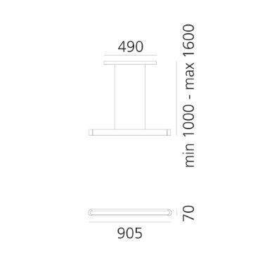 Artemide Talo 1921010A Zwis