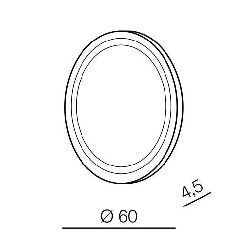 Azzardo Aurora R 60 Okrągłe Podświetlane Lustro