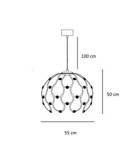 Berella Light Aspilia 55 złoto różowe Żyrandol Kula LED