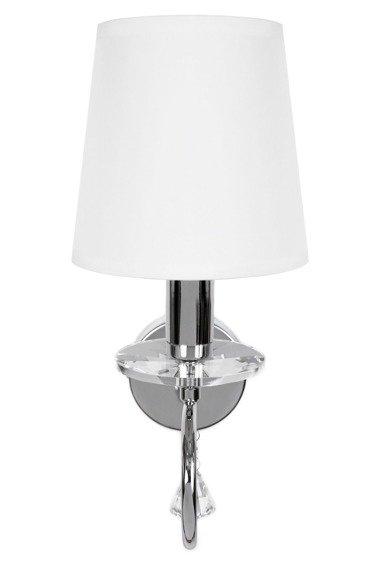 Berella Light Faroso Kinkiet z białym abażurem