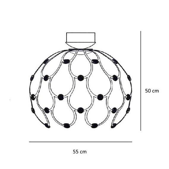 Berella Light Plafoniera LED Aspilia kolor chrom