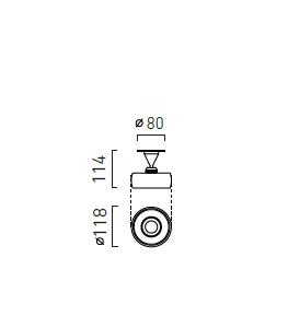 Chors Oprawa Sufitowa Reflektor Myco IN 120 NW Aluminium