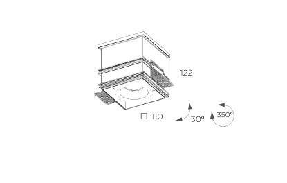 Cube  8204.03 Oprawa pod zabudowę BPM Lighting