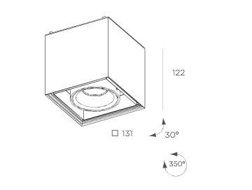 Cube  8207.03 Plafon BPM Lighting