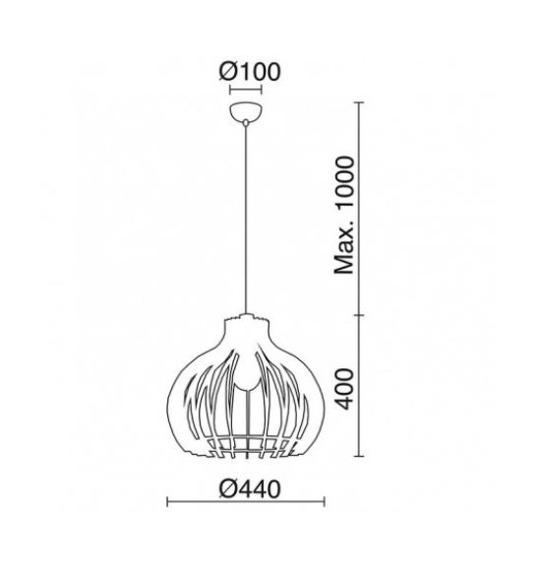 Cuska 720A-G05X1A-50 Novolux Exo Lampa wisząca