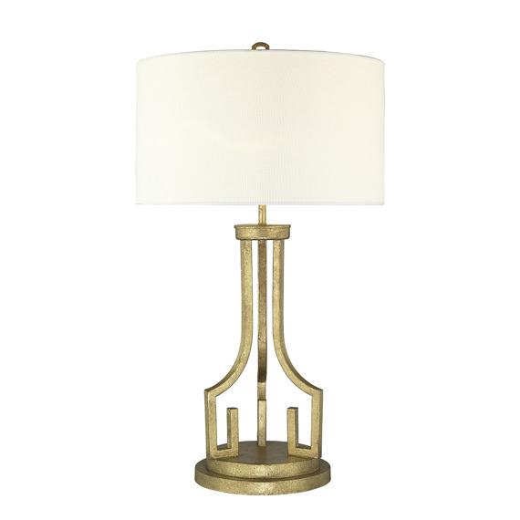 Elstead Lighting Lemuria TL Lampka biurkowa złota