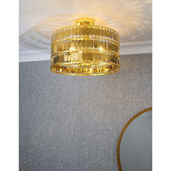 Endon Eldora 3 81964 Plafoniera złota w stylu glamour