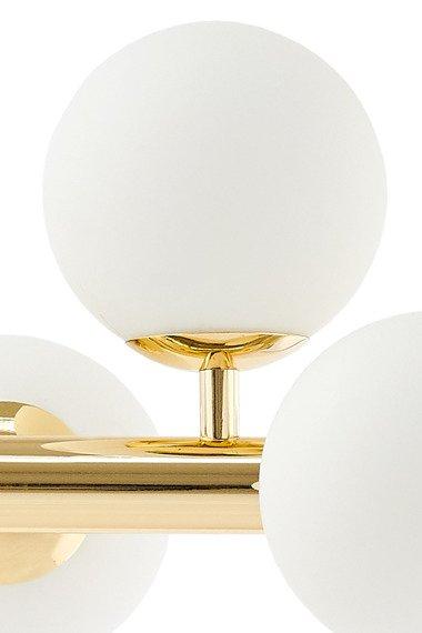 Kaspa Cumulus 3 10756805 plafoniera 8 x 9W LED E14 (złoty/biały)