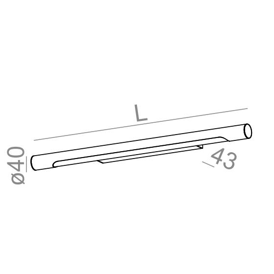 AQform Kinkiet Thin Tube 26410-L930-D9-00-03