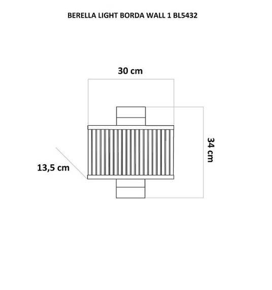 Kinkiet Chromowy Berella Light Borda Wall BL5432