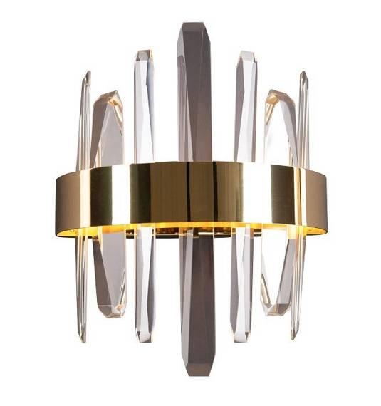Kinkiet Kryształowy Maxlight Prince W0287 Złoty