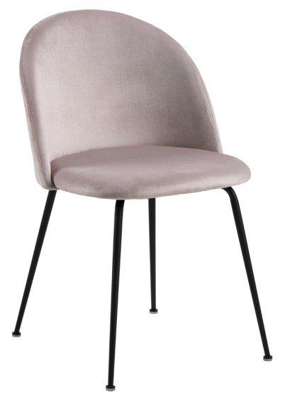 Krzesło kolor pudrowy róż z pikowanym tyłem