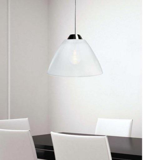 Lampa AV Mazzega MIRROR 40 cm SO3151 biała