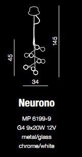 Lampa AZZARDO Neurono MP 6199-9