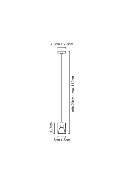 Lampa Fabbian CUBETTO WHITE D28 A01 01