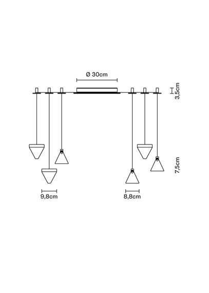 Lampa Fabbian Tripla F41 G03 76