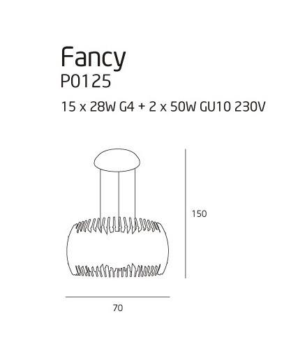 Lampa MaxLight Fancy P0125