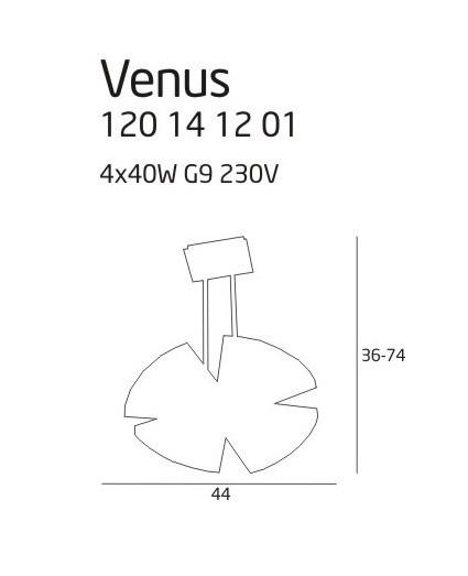 Lampa MaxLight Venus 120 14 12 01
