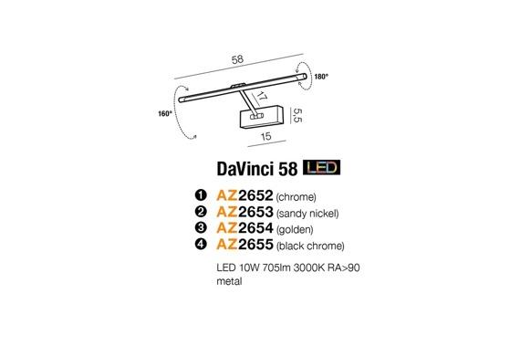 Lampa Ścienna Azzardo DaVinci 58 AZ2653