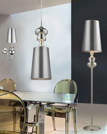 Lampa podłogowa AZZARDO Baroco AL 7121-1 Silver
