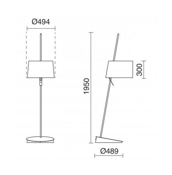 Lampa podłogowa Kai 856A-G05X1A-43 Novolux Exo