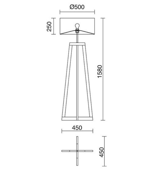 Lampa podłogowa Kara 703A-G05X1A-51 Novolux Exo