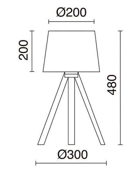 Lampa podłogowa Lars 845B-G05X1A-50 Novolux Exo