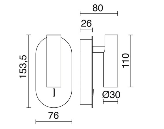 Lampa ścienna Dirk 704A-L0105B-01 Novolux Exo