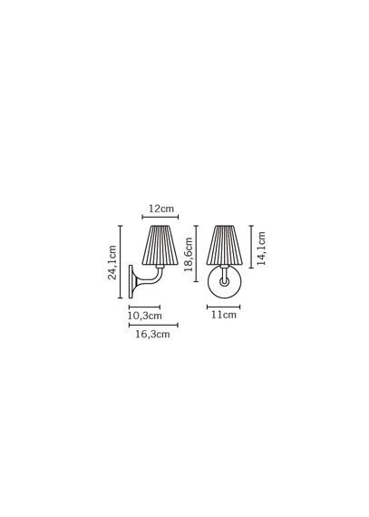 Lampa ścienna Fabbian FLOW D87 D01 00 cristal