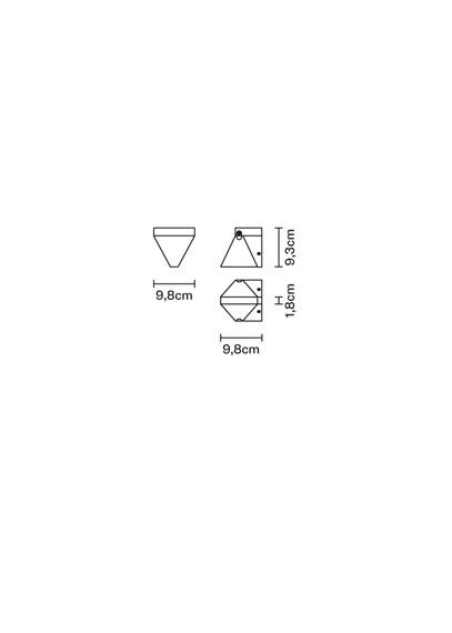 Lampa ścienna Fabbian Tripla F41 D01 11
