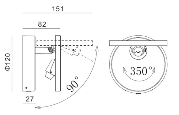 Lampa ścienna Mistic Exlipse MSTC-05411181