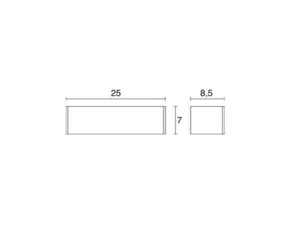 Lampa ścienna Novolux Exo Rett 504A-L0108A-40