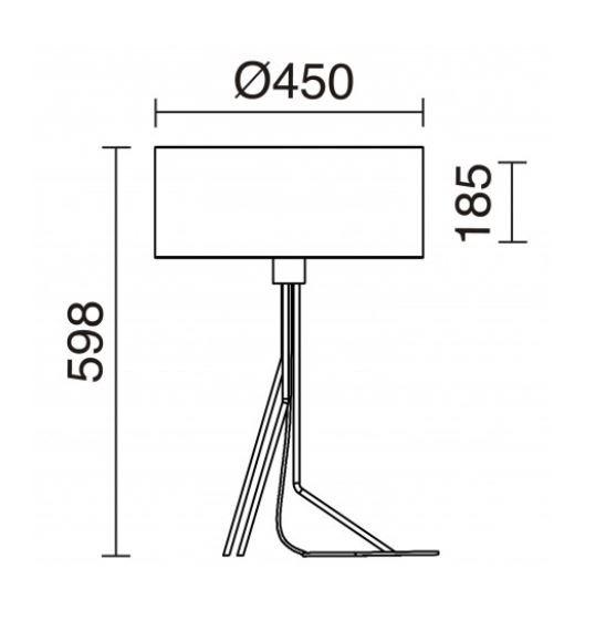 Lampa stolikowa Diagonal 855B-G05X1A-02 Novolux Exo