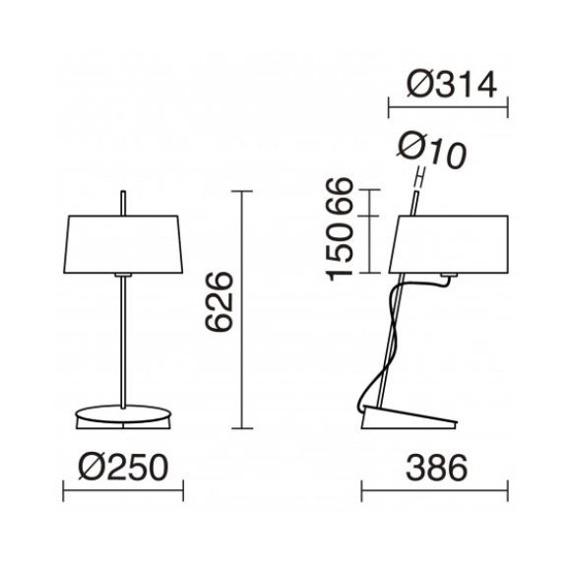 Lampa stolikowa Kai 856B-G05X1A-43 Novolux Exo