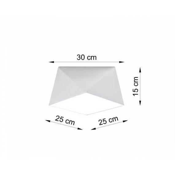 Lampa sufitowa Sollux Lighting Hexa 25 biała SL.0686