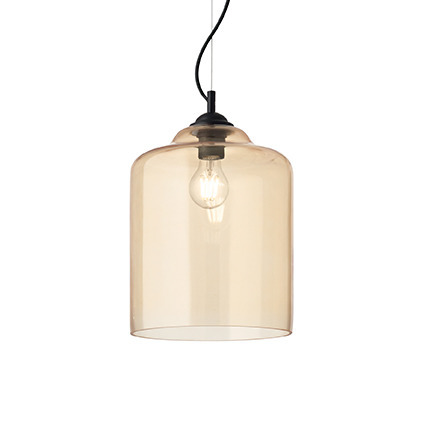 Lampa sufitowa ldeal Lux Bistro SP1 Square Bursztynowy