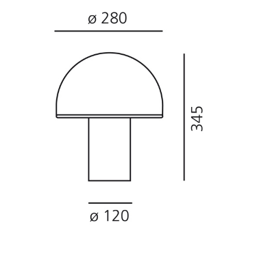 Lampka Onfale A006500 Artemide