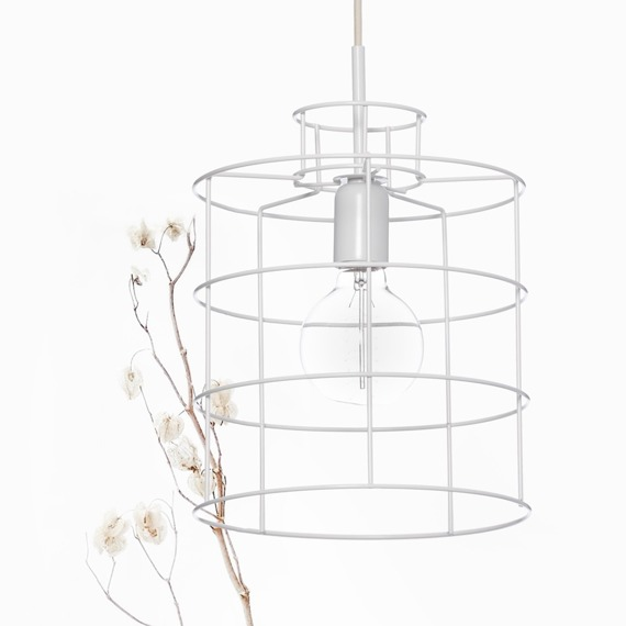 Lana Mini Lampa wisząca Ramko kolor biały