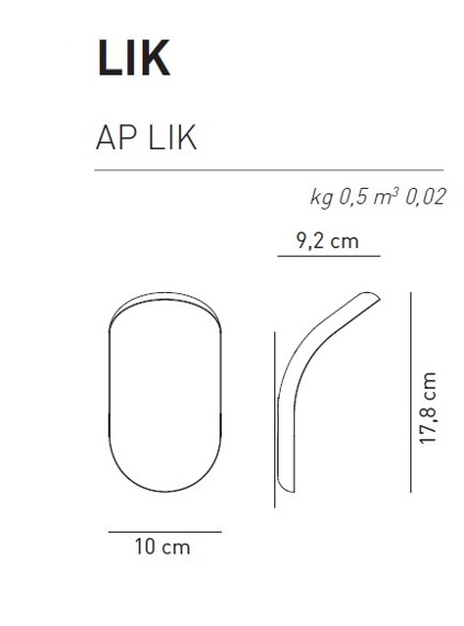Lik biały Axo Light AP Lampa ścienna