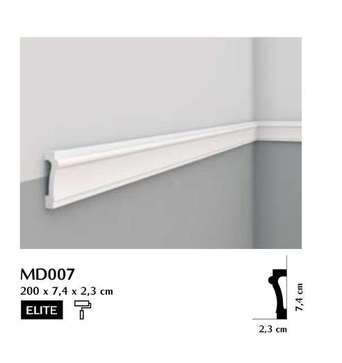 Listwa ścienna gładka Mardom MD007