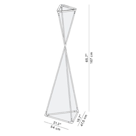 Luceplan Tango D77NTW 2700K lampa stojąca