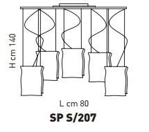 MURANO SP S207 Oprawa Wisząca Sillux