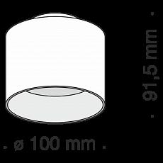 Maytoni Planet C009CW-L12B Spot tuba kolor czarny