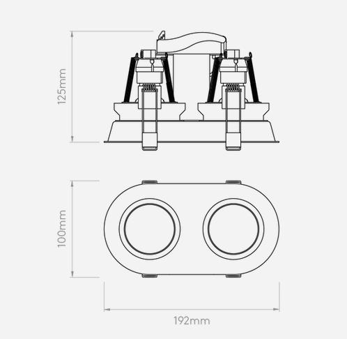 Oprawa Do Zabudowy Astro Minima Twin 1249028